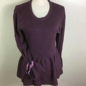 Lane Bryant Long Sleeved Peplum Sweater